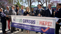Group photo including Assemblymember Marc Berman at 2020 Census Press Conference
