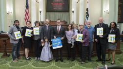 Assemblymember Berman at Bone Marrow Donation Awareness Month at the Capitol