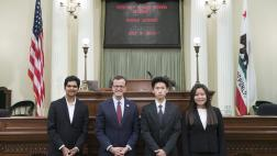 Assemblymember Berman with District Office Interns