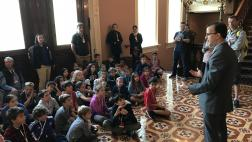 Berman Welcomes Students from the Gideon Hausner Jewish Day School to the Capitol